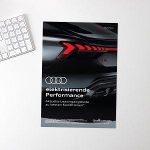 HNMC Grafikdesign Audi Verkaufsbroschüre
